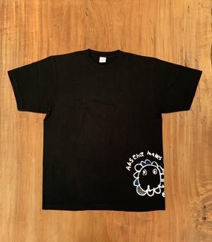 オリジナル刺繍Tシャツ / ライオン柄 / ブラックXL