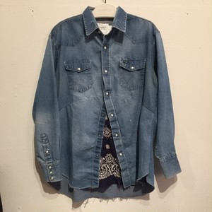 【OLD PARK】DARTS SHIRT DENIM WESTERN OP-158 [No.750001]