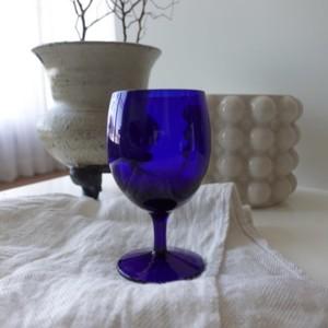 deep blue home cafe goblet / ディープブルー ホームカフェ ゴブレット ガラスコップ 北欧 韓国 雑貨