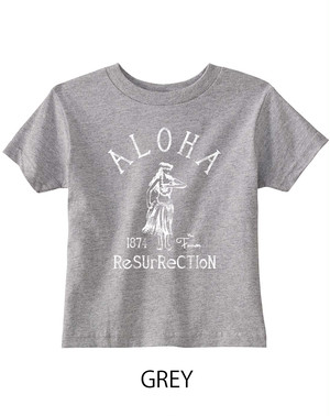 [KID] ALOHA RESURRECTION TEE -GREY-