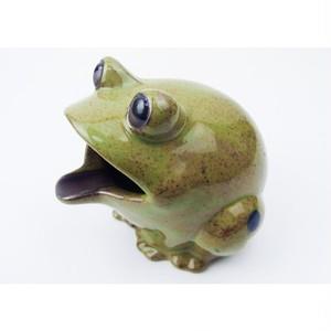 アイクラフト・陶器カエル灰皿 [グリーン] 89606m-1801