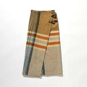 【FILL THE BILL】《WOMENS》BLANKET WRAP SKIRT - BEIGE CHECK