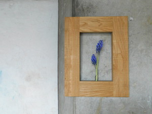 壁掛け花入れ  木の一輪挿し①