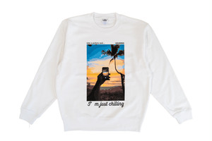 【graphic relaxed sweat】/ white
