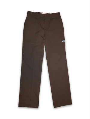 SHAKE HANDS STRAIGHT WORK PANTS dark brown