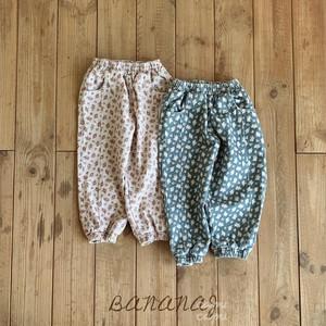 «予約»«ジュニアサイズあり» banana j flower pants フラワーパンツ 2colors