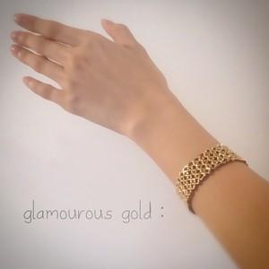 glamourous gold:ブレスレット