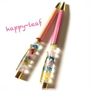 ハーバリウムボールペン(サーモンピンク・ピンク)