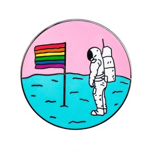 "Pretty Bad Co""Queer Moon Pin"""