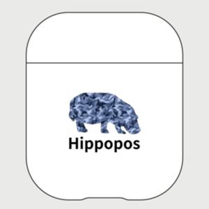 AirPodsケース「Hippopos(青迷彩)」