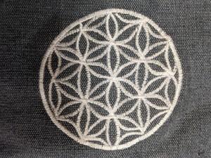 コットン100 刺繍ヨガマットケース