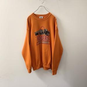 ROGERS プリントスウェット オレンジ size XL USA製 メンズ 古着