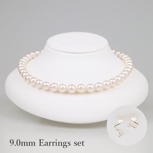 薄桜90E-set(Usuzakura)【Akoya8.5-9.0mm】Necklace & Earrings Set