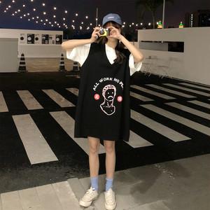 【トップス】韓国ファッションbf細見えノースリーブロングベスト