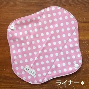 布ナプキン (ライナー) ☆ ピンクドット柄