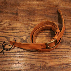 Washed Leather Strap / Natural