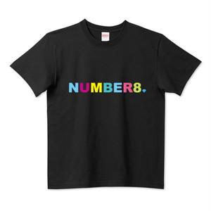 Number8(ナンバーエイト) レインボーロゴスモールダイヤモンドTシャツ(レインボーバージョン)ブラック メンズ レディース キッズ