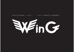 Win G ロゴステッカー(白文字)