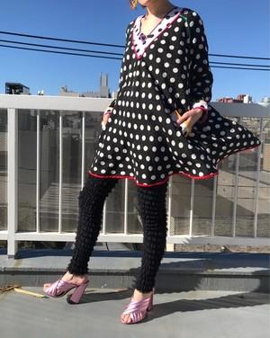 Vintage polka dots silk tunic ( ヴィンテージ  ドット柄 シルク チュニック )