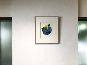 【版画アマビエ展】古本 有理恵「rebirth  (再生)」 FURUMOTO Arie,etching