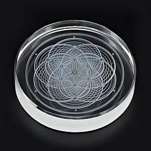 多層構造鏡魔法陣【The World -spirit】 鏡+クリスタルサークルセット