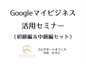 【一般事業者向け・ダウンロード動画】Googleマイビジネス活用セミナー(初級編69分+中級編50分)セット メールサポート付