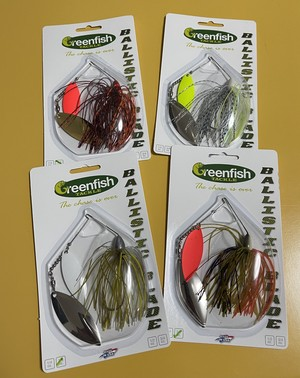 Greenfish Tackle Ballistic Blade Double Willow Spinnerbait コイズオリジナル