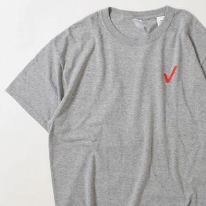 【Lサイズ】 PEACE CHECK TEE  半袖Tシャツ H.GRAY L 400601191078