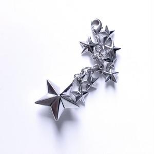 enchanted.LA 8 Stars Sparkle Charm - Silver -