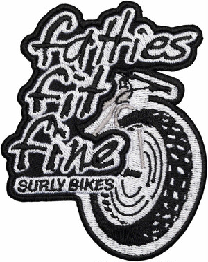 "SURLY ""LONG ROLING FAT PATCH"" BLACK/WHITE"