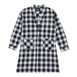 EXAMPLE OMBRE CHECK LONG GOUN SHIRT / BLUE