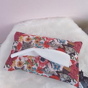 *再入荷*【Nathalie Lete】ナタリー・レテ ティッシュケース キャット&フラワー tissue case cat & flower