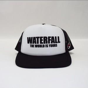 ロゴメッシュキャップ(レコードワッペン) ホワイト×ブラック F ユニセックス WATERFALL コラボ商品