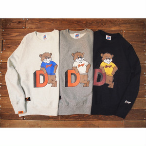 "【DARGO】""College Bear"" Heavy Weight Crew Neck Sweat (3color)"