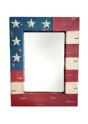 Metal USA Flag Mirror Sサイズ