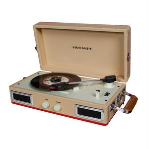 Crosley トランク型ミニレコードプレイヤー (Red)