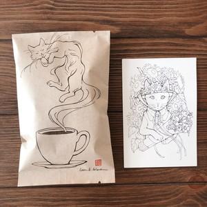 Erica Ward × CLOUDS コーヒー&ポストカードセット