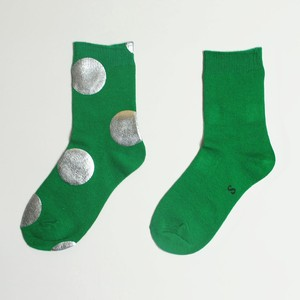 METAL SOX (4.5DOT) GREEN X SILVER