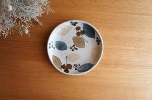 砥部焼/ほうろく皿/木の葉/森陶房