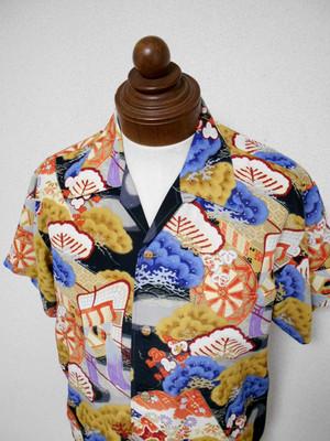 着物アロハシャツ Kimono Aloha Shirt AL-602/L