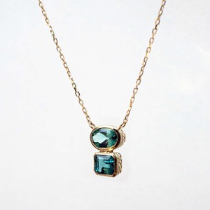 Indigolite Tourmaline Double Necklace(N213-GT)