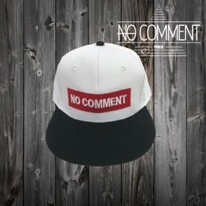 NOCOMMENT ロゴワッペン/CAP NC-CP002NE ホワイト・ブラック