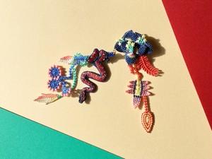 ARRO / 刺繍 ブローチ / GARDEN / blue