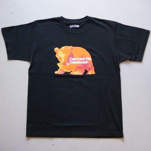 ULTRA HEAVY Catch&eat 大雪山・熊Tシャツ 復刻 GRV BLACK