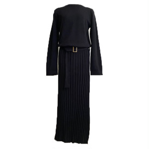 RIMI&Co. SELECT ロングニットワンピース <Pleated LongSweater Dress>