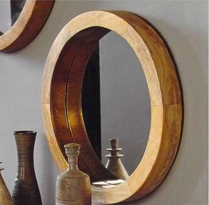 Porthole Mirror Large ウッド x 真鍮ミラー