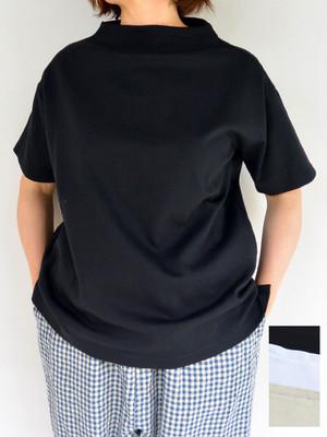 Commencement コメンスメント ボトルネックハーフスリーブ Tシャツ