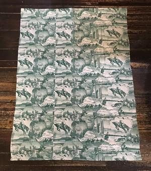 Vintage Cowboy Picture Print カーテン 生地