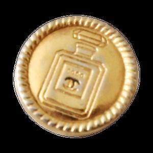 【VINTAGE CHANEL BUTTON】ゴールドフレーム パフュームロゴボタン 15㎜ C-20009 A