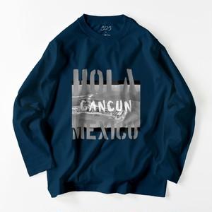 HOLA cancun  ロングスリーブTシャツ navy blue